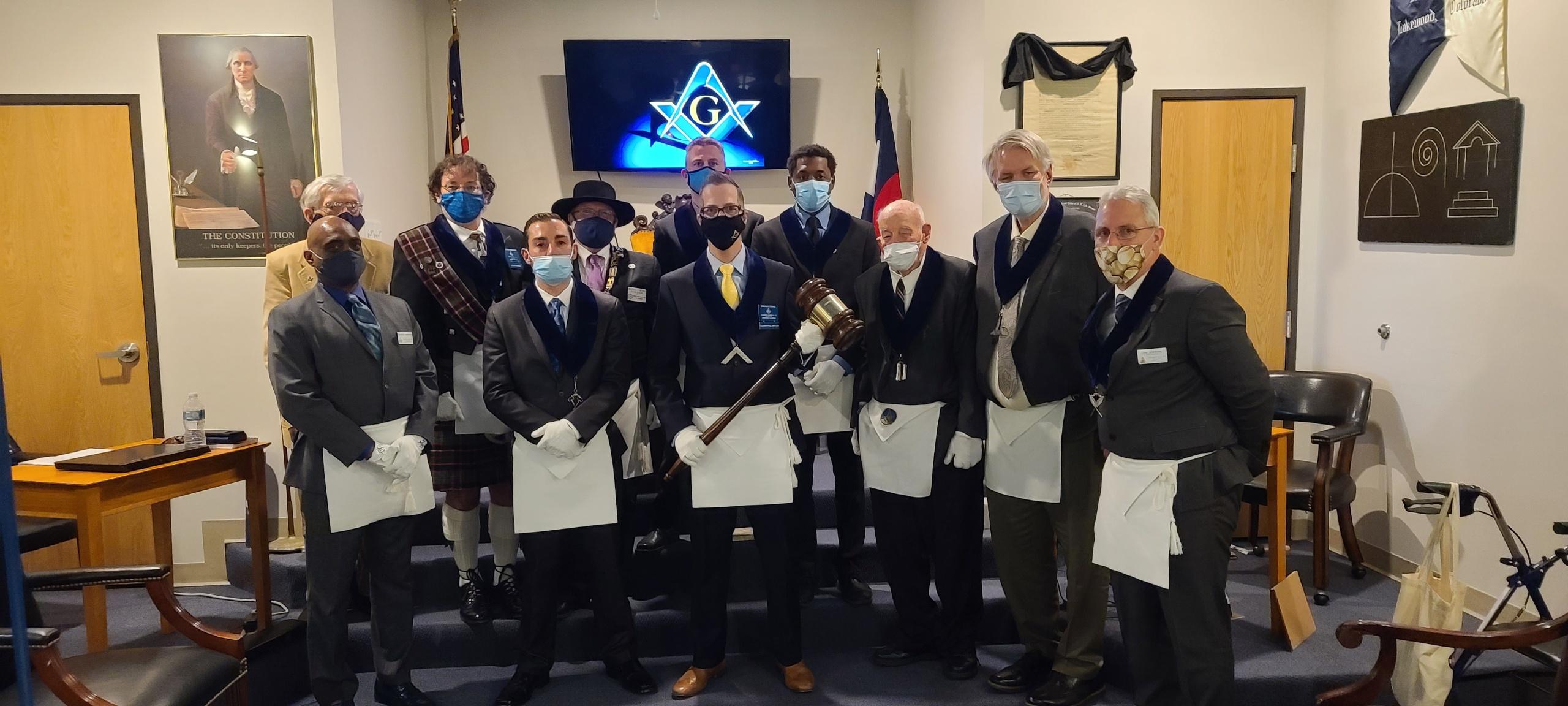 Lakewood Masonic Lodge with Traveling Gavel 2021